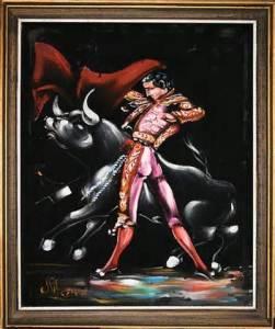 bullfighter velvet art