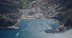 Avalon town and harbor 2012
